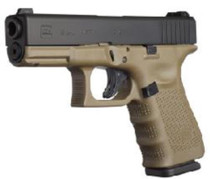 "Glock G19 Gen4 9mm 4"" Barrel Olive Drab Frame Fixed Sights 15rd Mags Austrian Made"