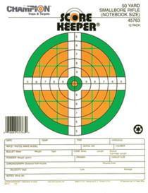 Champion Fluorescent Score Keeper Targets 50 Yard, Small Bore Rifle, 12/Pack
