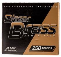 CCI 40SW Blazer 180gr, FMJ, Brass, 250rd Box