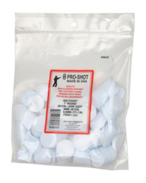 "Pro-Shot "".22-.270 Cal. 1"""" RD. 600CT. Patches"""