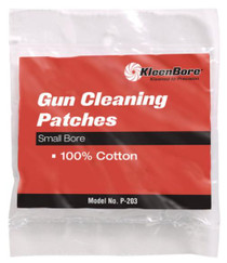 Kleen Bore 100% Cotton Cleaning Patches .22-.270 Caliber,100/Pack