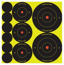 """Birchwood Casey Shoot-N-C Bullseye Packs 60x1"""", 30x2"""", 20x3"""", 12 Sheets/Pack"""