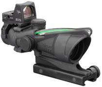 Trijicon ACOG 4x32 Dual Illuminated Green Crosshair .223 Ballistic Reticle, TA51 Mount LED RMR 3.25 MOA Red Dot Sight