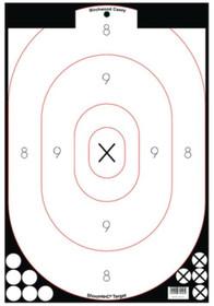"Birchwood Casey Shoot-N-C White/Black 12x18"" Silhouette 5 Targets, 90 Pasters"