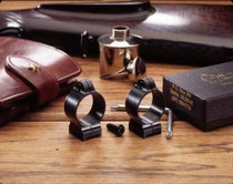 """Talley 1"""" High Fixed Talley Rings, Black"""
