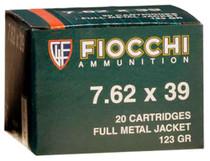 Fiocchi 7.62X39, 123 gr, FMJ, 20rd/Box