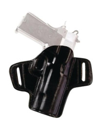 Tagua Gunleather Open Top Leather Belt Holster S&W J Frame 2.1 Inch Right Hand Black