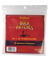 Outers Cleaning Patches .17-.22 Caliber 800 Per Bag