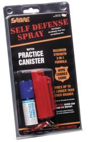 """Sabre Soft Case Key Ring OC/CS/UV Spray 3.75""""Hx7/8""""W .54oz 8-10ft"""