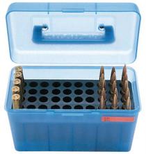 MTM Case Gard H50 Ammunition Box .264 to .458 Winchester Magnum Blue