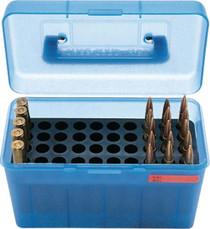 MTM Case Gard H50 Ammunition Box .22-250 to .308 Winchester Blue