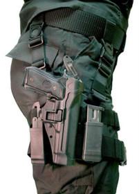 Blackhawk CQC Serpa Tactical Holster, For Glock 17, Black, Left Handed