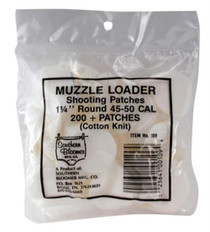 """Southern Bloomer Muzzleloader Shooting Patches 1.25"""" Round .015 Thickness"""