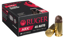 Ruger Inceptor ARX Self Defense Ammo, 45 ACP 118 Gr, 20 Rd Box