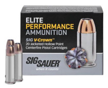 Sig Ammo 38Spl +P 125Gr, Elite V-Crown, JHP, 20rd/Box