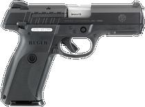 """Ruger SR9E Pistol 9MM 4"""" Barrel 3-Dot Sights Black 17 Rnd Mag"""
