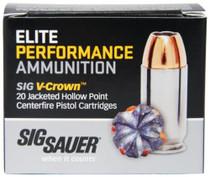 Sig Ammo 10mm 180Gr Elite V-Crown JHP 20rd Box