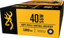 Browning Ammo BPT Performance 40 S&W 180gr, Full Metal Jacket, 50rd/Box