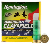 "Remington American Clay & Field Sport Loads, 12 Ga, 2.75"", 1oz, 9 shot, 25rd/Box"