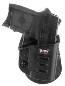 Fobus Evolution Paddle Holster - Left-Handed S&W Bodyguard Plastic Blac