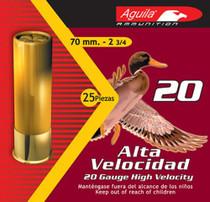 "Aguila Hunting 20 Ga, 2.75"", 1oz, 4 Shot, 25rd/Box"