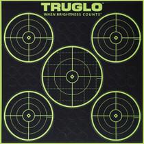 Truglo 6 Pack 5 Circle Targets Hi-Viz 1/4 Measurments Self-Adhesive Green