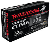Winchester USA 40 S&W Jacketed Flat Point 140gr, 50Box/10Case