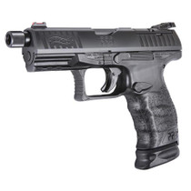 "Walther PPQ M2 Q4 TAC 9mm, 4"" Threaded Barrel, Optic Ready, 15rd"