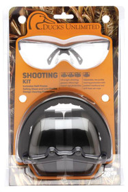 Pyramex Combo Kits PM8010 Earmuff/Shooting Glasses 26 dB Clear Glass