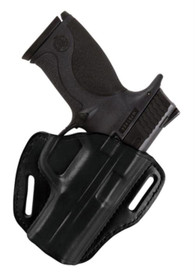 Bianchi 58 P.I. Holster For Semiautomatics And Small Frame Revolvers Plain Black, Right Hand