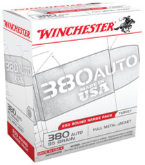 Winchester USA .380 ACP 95gr, Full Metal Jacket, 5 Boxes of 200rd, 1000rd/Case Total
