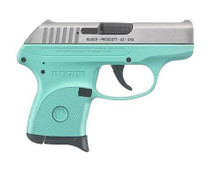 """Ruger LCP .380 ACP, 2.75"""", 6rd, Turquoise Frame, Stainless Steel Slide"""