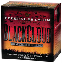 Federal Premium Black Cloud Waterfowl 12 Gauge 3 Inch 1450 FPS 1.25 Ounce 3 Shot 25 Per Box