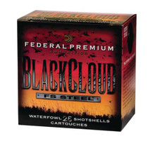 Federal Premium Black Cloud Waterfowl 12 Gauge 2.75 Inch 1500 FPS 1 Ounce 3 Shot 25 Per Box