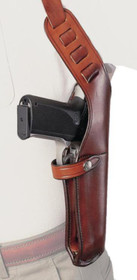 "Bianchi X-15 Shoulder Holster 4-5"" Barrel Medium Revolvers Size 2 Plain Tan Right Hand"