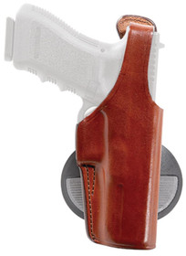 Bianchi 59 Special Agent Adjustable Leather Paddle Holster Colt/Springfield .45 Size 10 Plain Tan Right Hand