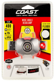 COAST FL60 Headlamp, 300 Lumens, AAA-3, Red/Black