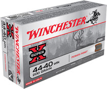 Winchester Ammo Super X .44-40 200gr, Winchester Soft Point, 50rd/Box