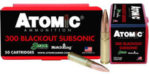 Atomic Subsonic 300 Blackout 220 gr, HPB Tail 50rd Box