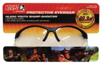 Howard Leight HL200 Anti-Fog Protective Eyewear Youth Size Clear Lens With Black Frame