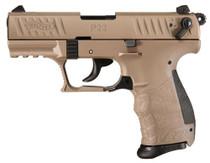 "Walther P22 QD 22 (LR) 3.42"" Barrel Flat Dark Earth 10rd Mag"