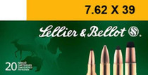 Sellier and Bellot 7.62x39mm 124gr, Full Metal Jacket, 20rd Box