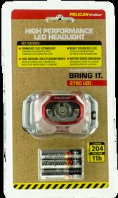 Pelican 2760 Headlamp Gen 2 204/141/95/42 Lumens AAA (3) Red/Black