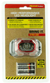 Pelican 2760 Headlamp Gen 2 204/141/95/42 Lumens AAA (3) Red/Black#2