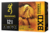 "Browning BXD Extra Distance Turkey 12 Ga, 3"", 1-5/8oz, 4 Shot, 10rd/Box"