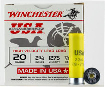 "Winchester Dove and Clay 20 Ga, 2.75"", 7/8oz, 7.5 Shot, 250rd/Case (10 Boxes of 25rd)"