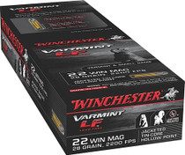 Winchester Varmint LF 22 WMR, 28gr, Jacketed Hollow Point, 50rd/Box
