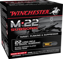 Winchester M-22 Subsonic 22 LR 45gr, Lead Round Nose, 800rd/Box