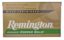 Remington Premier Lead-Free 300 Win Mag 165 Grain Copper Solid Tipped Boattail 20rd/Box