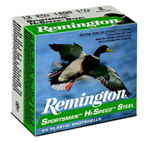 "Remington Sportsman Steel Loads 12 Ga, 2.75"", 1.1oz, 2 Shot, 25rd/Box"